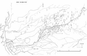 相川金銀山の間歩位置